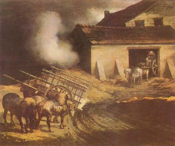 Gericault - la fábrica de cal (1822)