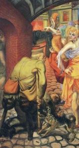 Otto Dix - la gran ciudad (1928) panel derecha