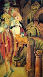 Otto Dix - la gran ciudad (1928) panel izquierda