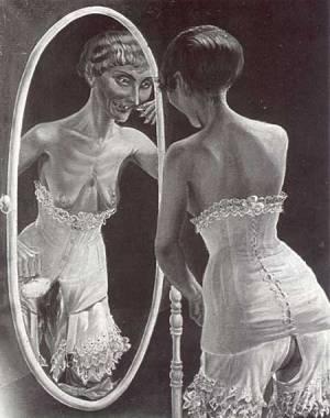 Otto Dix - muchacha ante el espejo (1921)