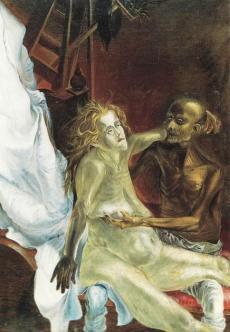 Otto Dix - viejos amantes (1923)