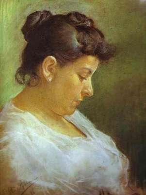 Picasso - retrato de la madre del artista (1896)