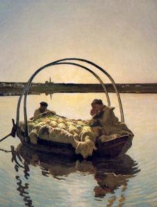 Giovanni Segantini - ave maria en el lago (1886)