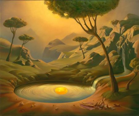 Vladimir Kush - Breakfast on the lake (2004)