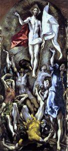 El Greco - la resurrección de Cristo (1604)