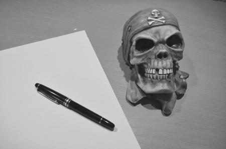 escritura con calavera 03