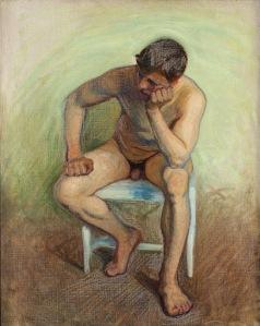 Eugene Jansson - desnudo masculino sentado