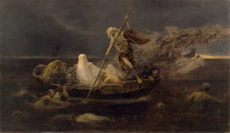 Josep Benlliure Gil - la barca de Caronte (1919)