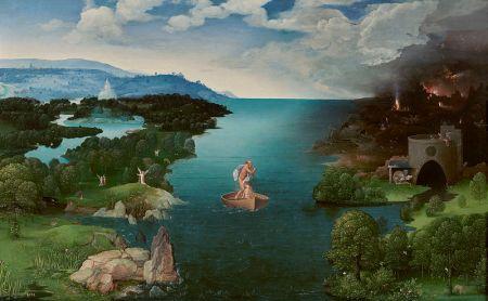 Patinir - El paso de la laguna Estigia (1520)