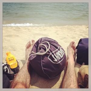 Roger Galtes en la playa