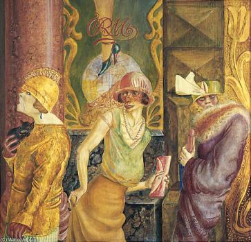 Otto Dix - tres prostitutas en la calle (1925)