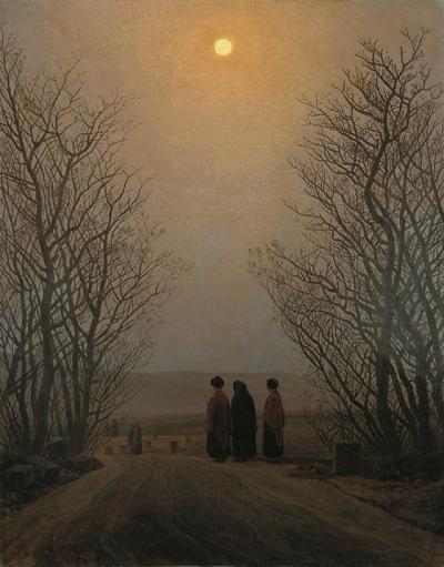 Friedrich - amanecer en las montañas (1833)