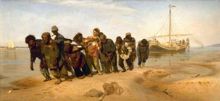 Ilia Repin - Los Sirgadores del Volga (1873)
