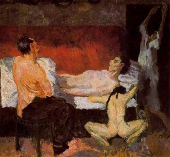 Max Beckmann - Gran escena de la muerte (1906)