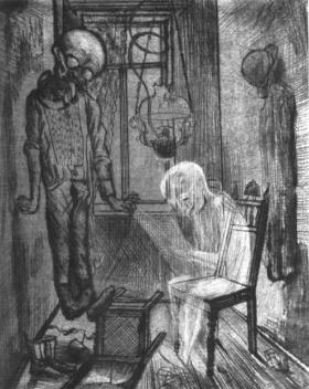 Otto Dix - el suicida (1922)