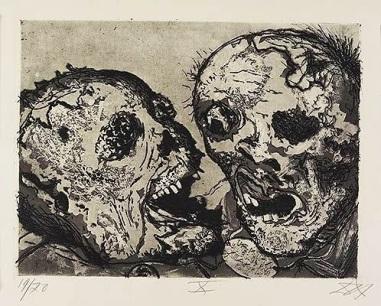 Otto Dix - Muertos delante de la posición de Tahure (1924)