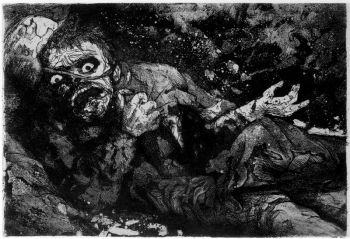 Otto Dix - soldado herido (1916)