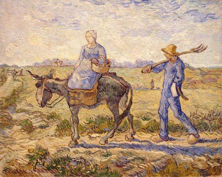 Van Gogh - Camino a casa (1890) (03)