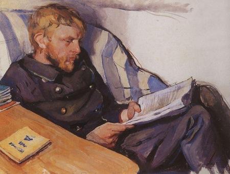 Zinaida Serebriakova - Retrato de Boris Serebriakov