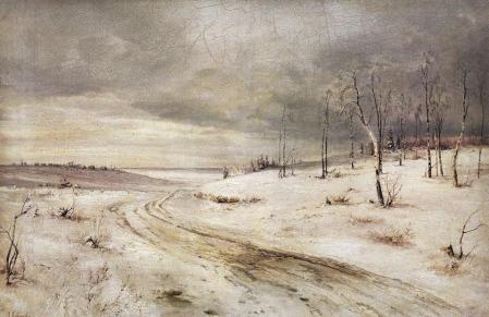 Aleksey Savrasov - un drum de iarna