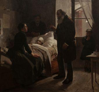 Arturo Michelena - El niño enfermo. (1886)