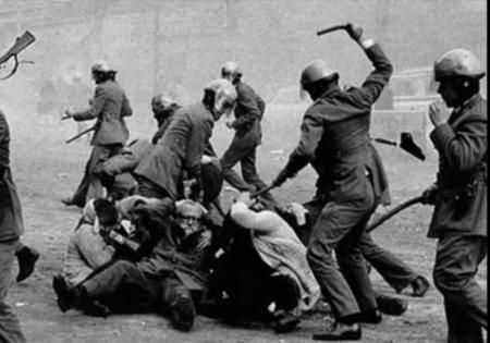 carga policial franquista