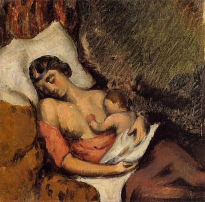 Cezanne - Hortense amamantando a Paul (1872)