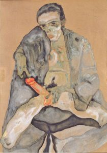 Egon Schiele - autorretrato masturbándose (1911) (02)