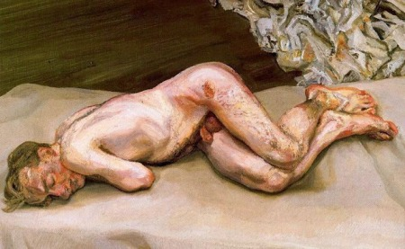 Lucien Freud - Naked man on a bed (1987)