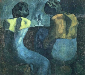 Picasso - two women sitting at a bar (1902) (02)