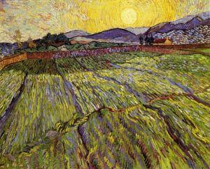 Van Gogh - Campo cerrado con sol naciente (1889)