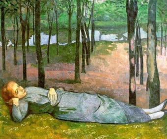 Emile Bernard - Madeleine in the Bois d'Amour (1889)
