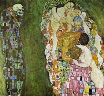 Klimt - Muerte y vida (1916)