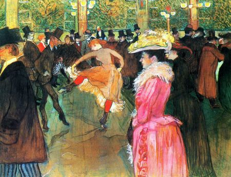 Toulouse-Lautrec - Dance at the Moulin Rouge (1889)