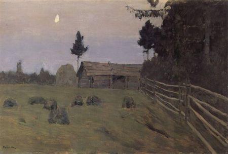 Isaak Levitan - crepúsculo (1900)