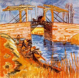 Van Gogh - el puente de Langlois en Arles (1888)