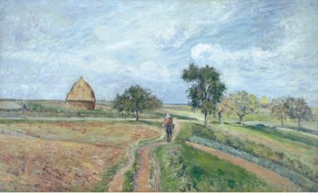 Pissarro - el antiguo camino de ennery (1877)