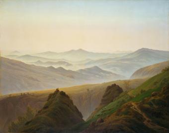 Friedrich - Amanecer en las montañas (1811)
