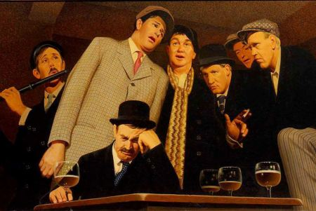 Grant Wood - Sentimental Ballad (1945)