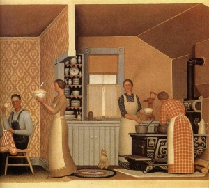 Grant Wood - The Thresher-s supper