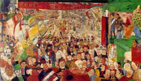 James Ensor - La entrada de Cristo en Bruselas (1889)