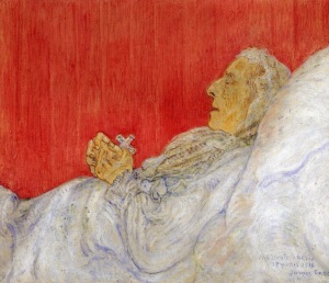 James Ensor - My dead Aunt (1916)
