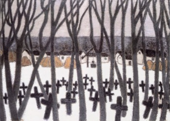 József Rippl-Rónai - Cemetery in the Great Plain