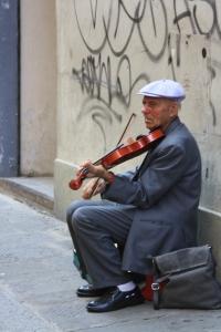 músico callejero