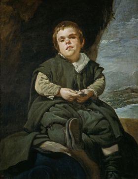 Velázquez - el niño de Vallecas (1645)x