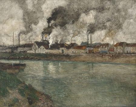 Frits Thaulow - The smoke (Read Fume)
