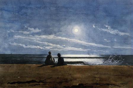 Winslow Homer - Moonlight (1874)