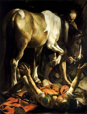 Caravaggio - La conversión en el camino a Damasco (1601)