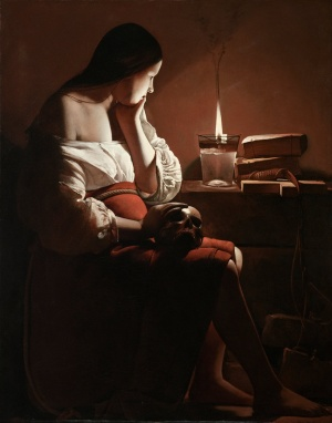 Georges de La Tour - The Magdalen with the Smoking Flame (1640)