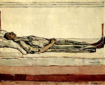 Hodler - the dead valentine gode darel (1915)